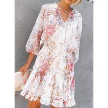 Load image into Gallery viewer, Print/Floral 3/4 Sleeves A-line Knee Length Casual/Vacation Dresses
