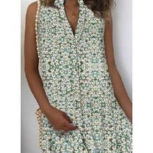 Load image into Gallery viewer, Print/Floral Sleeveless Shift Above Knee Casual/Vacation Dresses