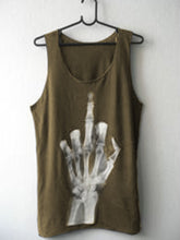 Load image into Gallery viewer, Skull Black Cotton-Blend Crew Neck Sleeveless Shirts & Tops