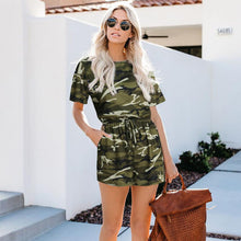 Load image into Gallery viewer, Printed camouflage jumpsuit