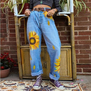 Sunflower denim trousers