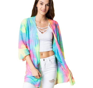 Rainbow gradient long sleeve sun protection cardigan