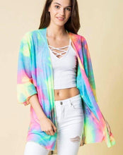 Load image into Gallery viewer, Rainbow gradient long sleeve sun protection cardigan