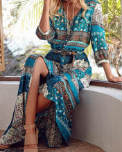 Load image into Gallery viewer, Ethnic Printed Bandage Boho Maxi Dress