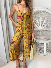 Load image into Gallery viewer, Camisole Floral Jumpsuit