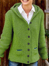Load image into Gallery viewer, Casual knit Hooded Sweater Cardigan  |ZTD