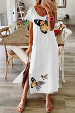Load image into Gallery viewer, Print Short Sleeves Shift Casual Midi Dresses