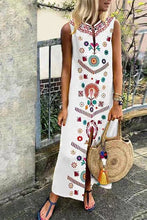 Load image into Gallery viewer, Printed Slit Sleeveless Dress