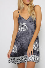 Load image into Gallery viewer, Round neck lace print dress