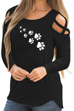 Load image into Gallery viewer, Printed long sleeve strapless T-shirt