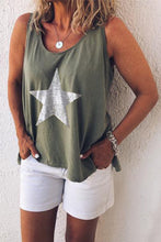 Load image into Gallery viewer, Printed pentagram round neck vest