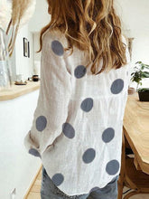 Load image into Gallery viewer, White Casual Printed Polka Dots Shirts & Tops