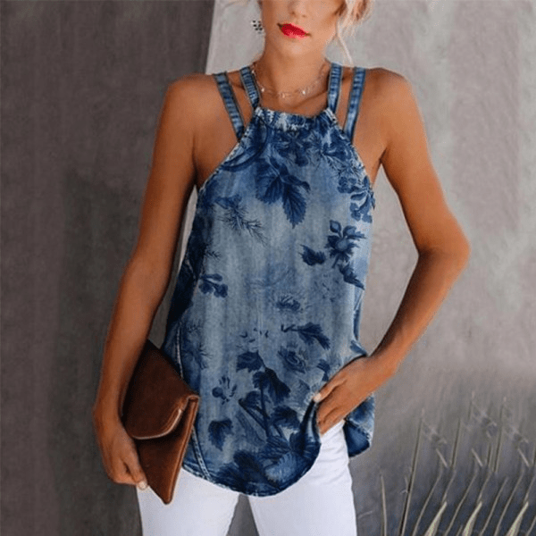 Womens Summer Sexy Off-Shoulder Sleeveless Vest