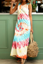 Load image into Gallery viewer, Printed vest tie-dyed casual women's dress