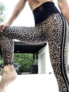 Leopard stripe Yoga Pants