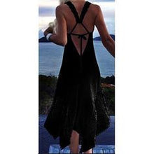 Load image into Gallery viewer, Solid Color Halter Sexy Bohemian Cover-ups Swimsuits