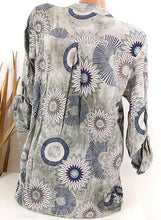 Load image into Gallery viewer, Printed floral V-neck long sleeve button down casual elegant blouse