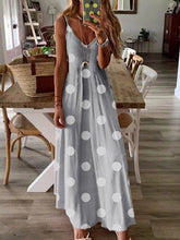 Load image into Gallery viewer, Polka Dots Sleeveless Cotton Dresses
