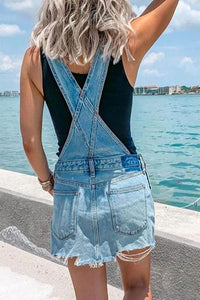 Cristalove Cool Overall Denim Dress