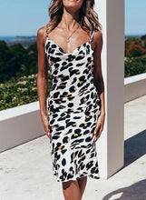 Load image into Gallery viewer, Leopard Sleeveless Sheath Knee Length Casual/Vacation Dresses