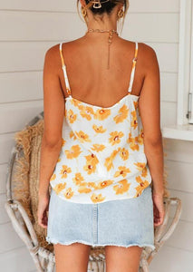 Sunflower Camisole without Necklace - White