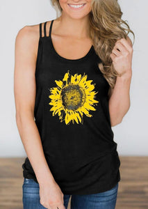 Sunflower Criss-Cross Hollow Out Tank - Burgundy