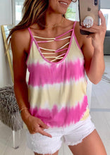 Load image into Gallery viewer, Presale - Tie Dye Criss-Cross Camisole without Necklace