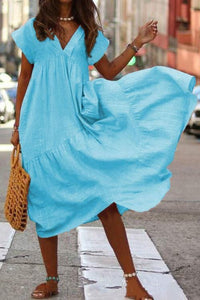 Cristalove Fly Ruffle Robe Sundress Dress