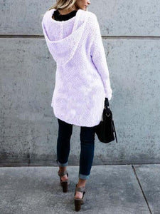 Fluffy  Long Sleeve Cardigans  |ZTD