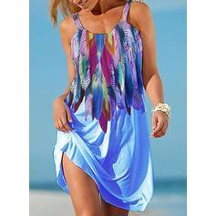 NEW! Print Sleeveless Shift Knee Length Casual/Vacation Dresses