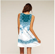 Load image into Gallery viewer, Printed round neck sleeveless dress