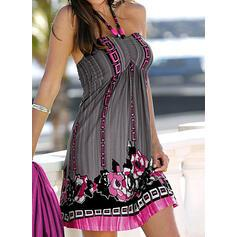 NEW! Print Sleeveless Shift Above Knee Sexy/Vacation Dresses