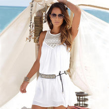 Load image into Gallery viewer, Lace chiffon camisole dress