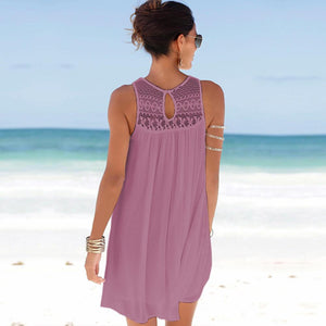 Lace chiffon camisole dress