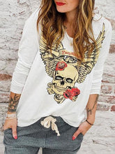 Load image into Gallery viewer, Casual Boho Skull Top