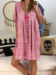 Floral Printed Plus Size Dress