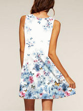 Load image into Gallery viewer, Flower Print Sleeveless Casual Dress