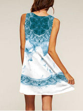 Load image into Gallery viewer, Digital Print Sleeveless Loose Casual Dress