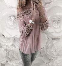 Load image into Gallery viewer, Lace Long Sleeve T-Shirt
