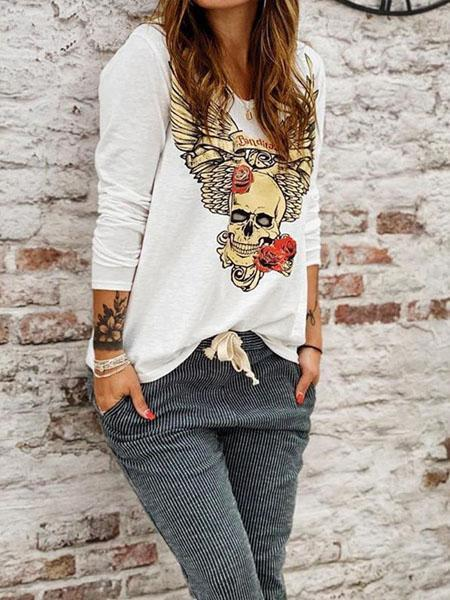 Casual Boho Skull Top