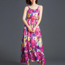Load image into Gallery viewer, Flowy Printed Beach Dress Maxi