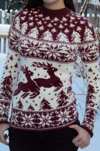 Casual Long Sleeve Christmas Sweater