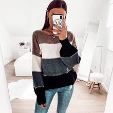 Load image into Gallery viewer, Casual Multicolor Pullover Long Sleeve Sweater