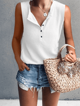 Load image into Gallery viewer, Casual Round Neck Sleeveless T-Shirt