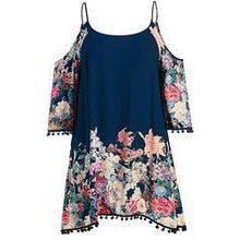Load image into Gallery viewer, Print/Floral Long Sleeves Shift Knee Length Casual/Vacation/Plus Size Dresses
