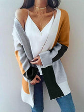 Load image into Gallery viewer, Color Block Ribbed Cardigan  | ZTD