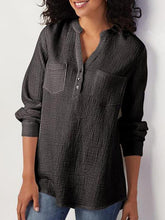 Load image into Gallery viewer, Cotton And Linen Long Sleeved Blouse