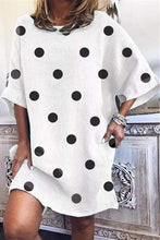Load image into Gallery viewer, Cristalove Big Dot Loose Mini Dress