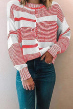 Load image into Gallery viewer, Cristalove Black&White Striped Sweater