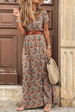 Load image into Gallery viewer, Cristalove Boho Floral High Split Maxi Dress